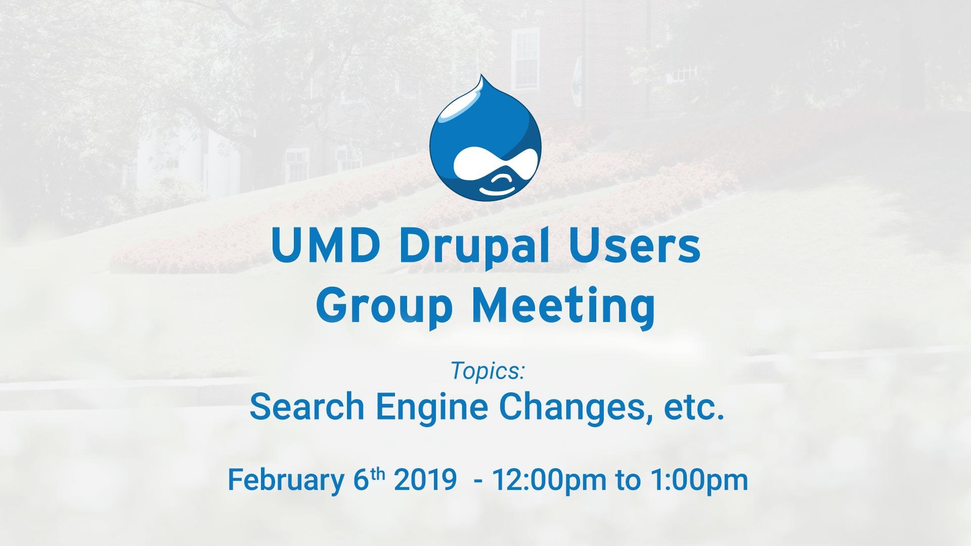 Drupal Users Meeting - February 2019