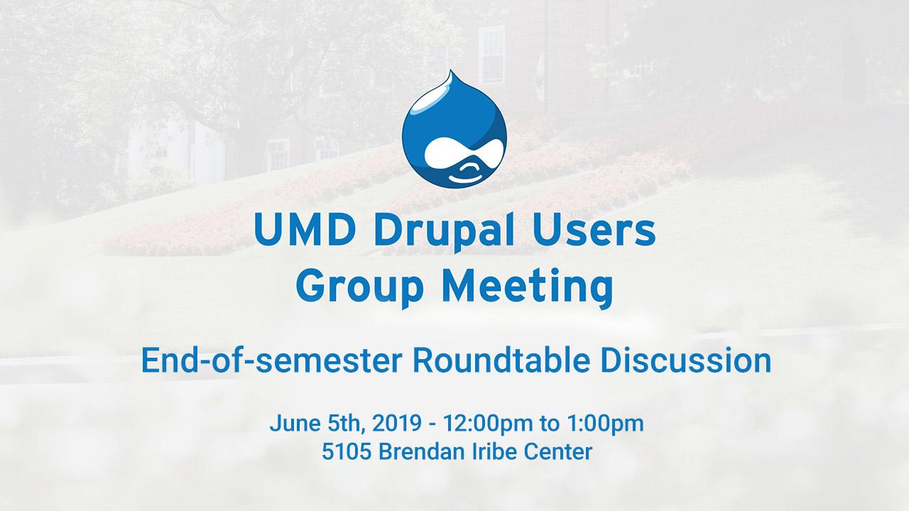 June 2019 Drupal Users' Group Meeting slide