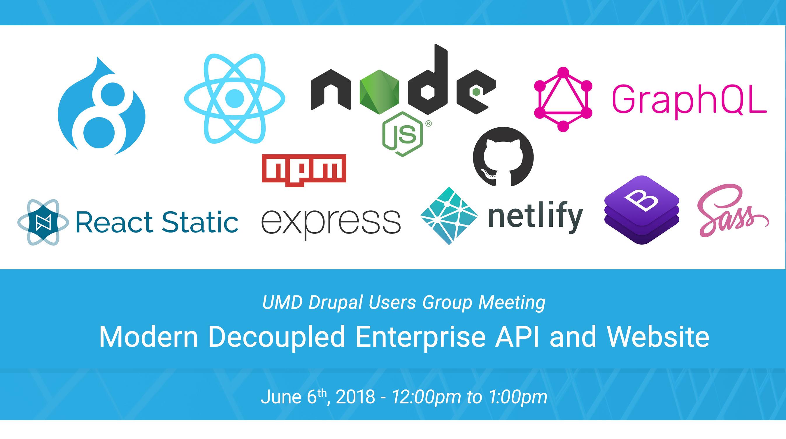 DUG - Modern Decoupled Enterprise API and Website