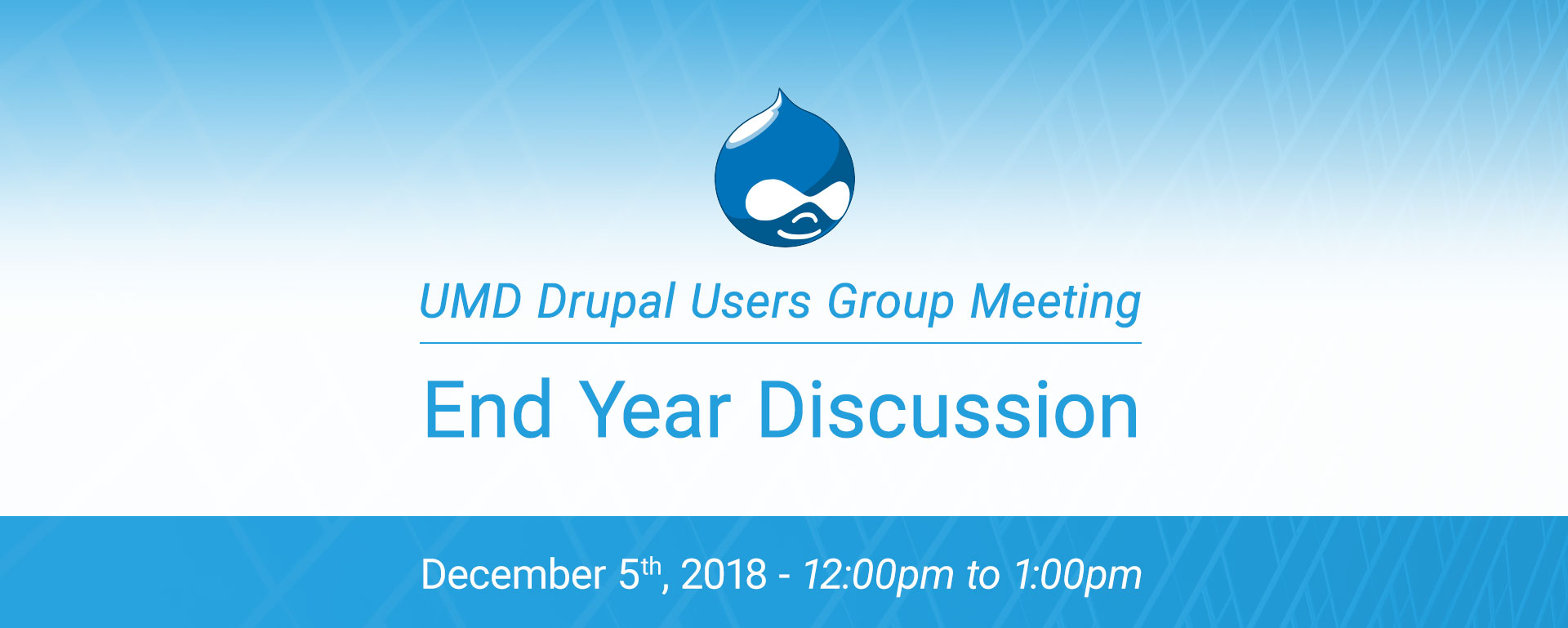 Drupal Users Meeting - End year 2018