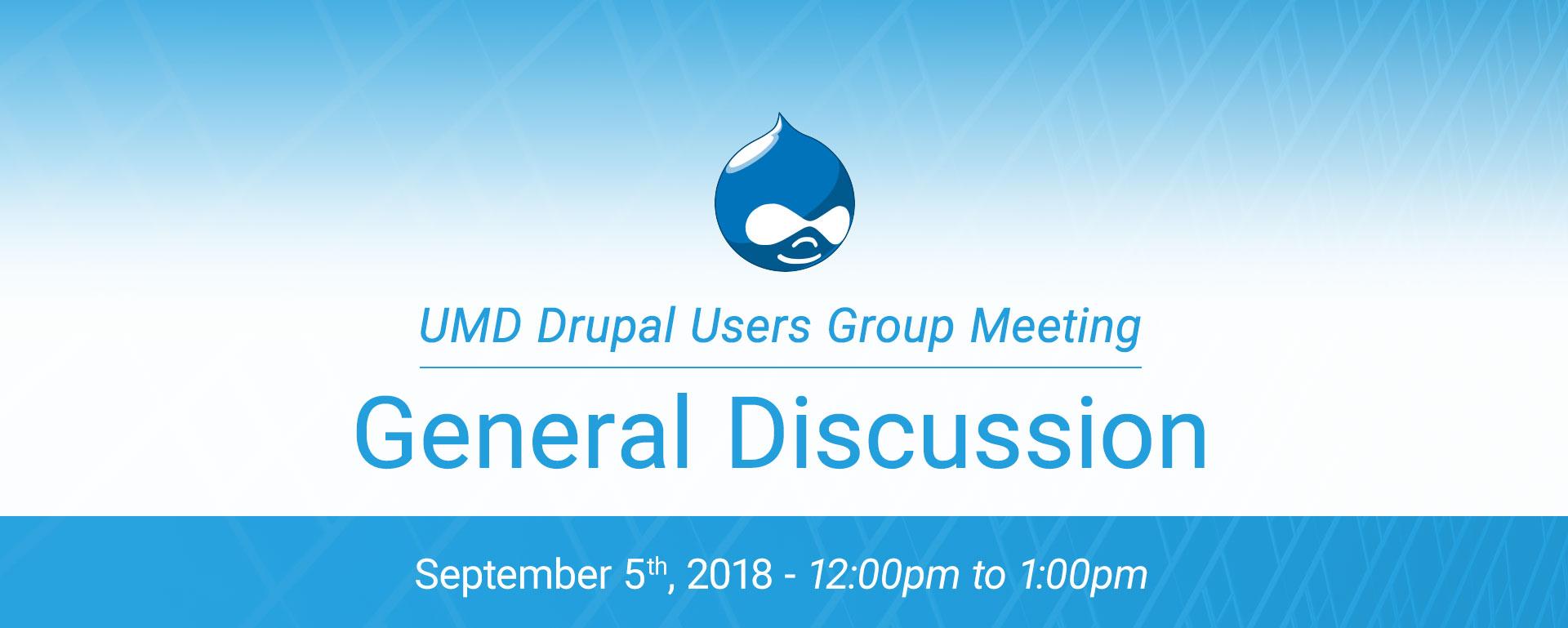 DUG - Fall Discussion