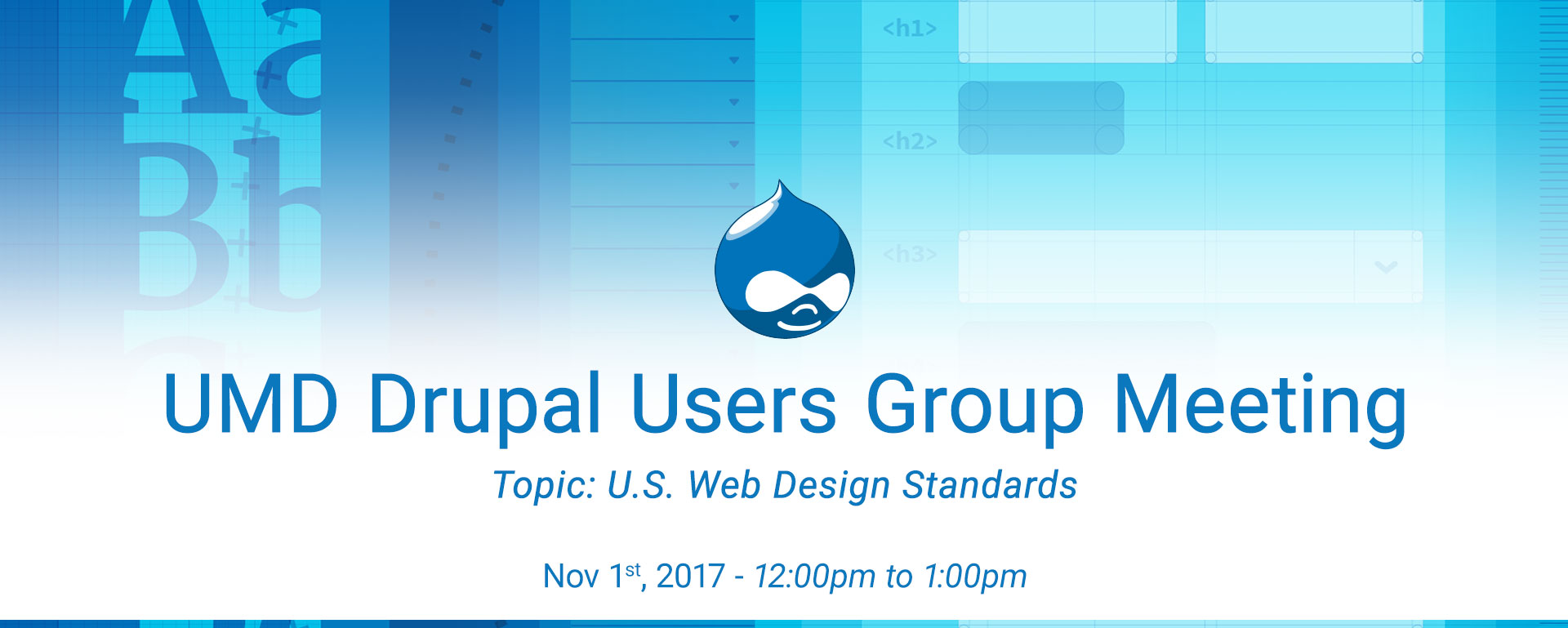 Drupal Users Meeting - U.S. Web Design Standards