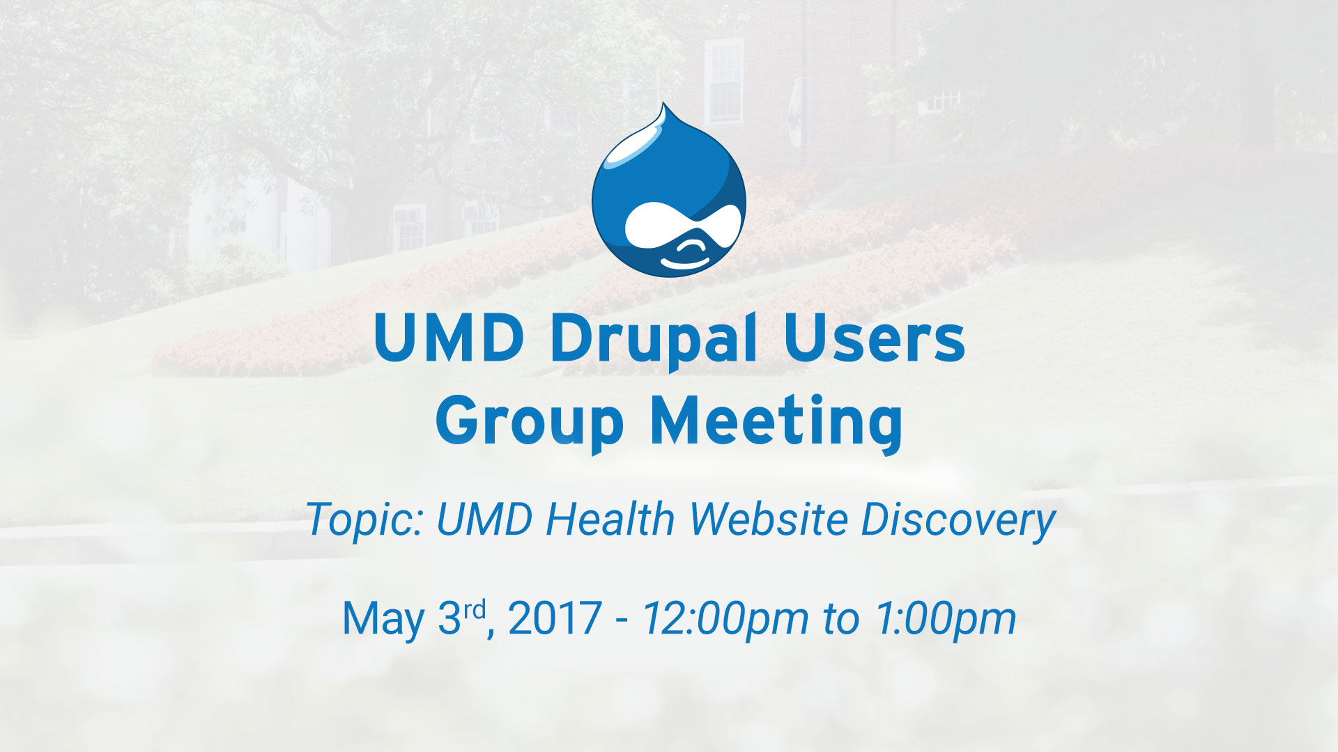 Drupal Users Meeting  - Health Center