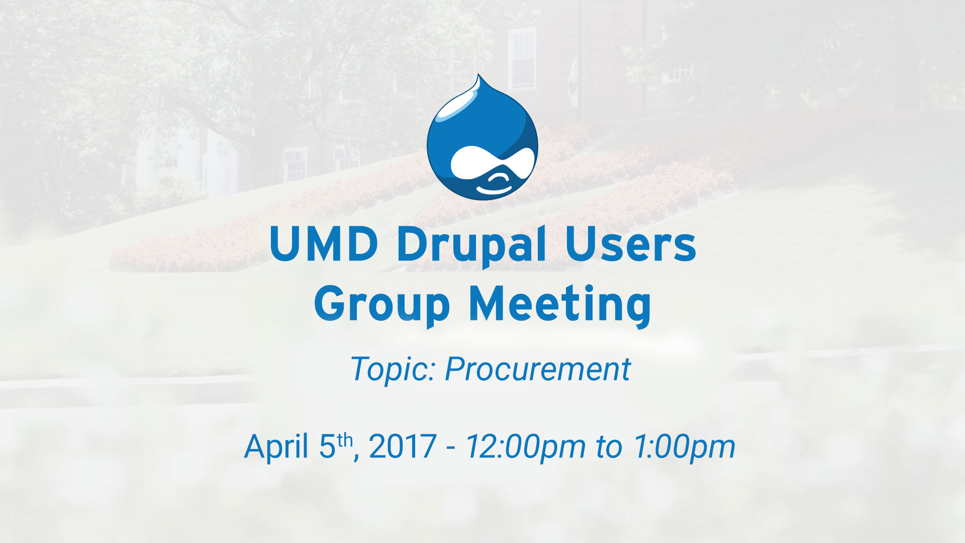 Drupal Users Group Procurement